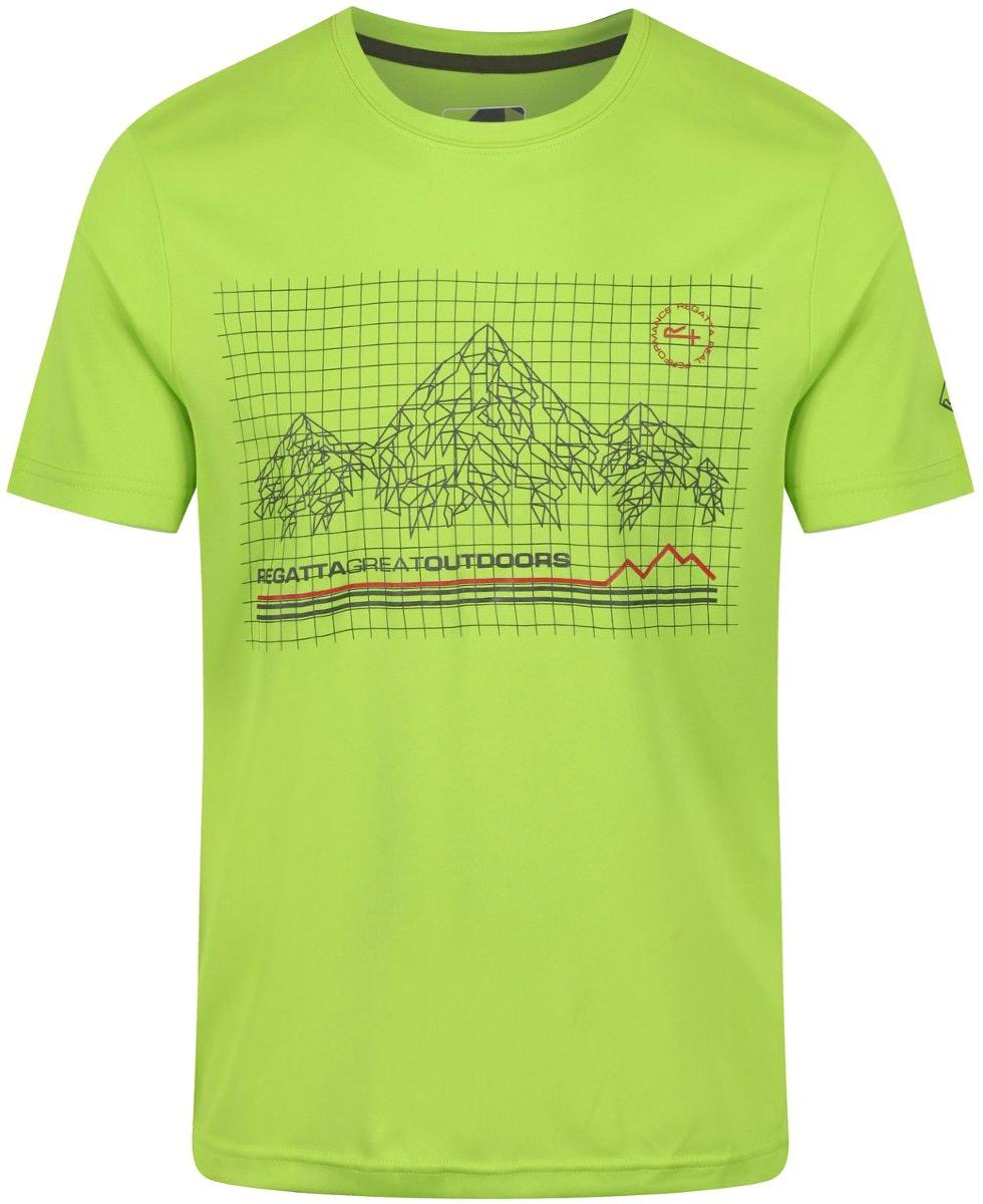 Купить Футболка мужская Regatta Fingal III, цвет: светло-зеленый. RMT162-7FJ. Размер M (50)