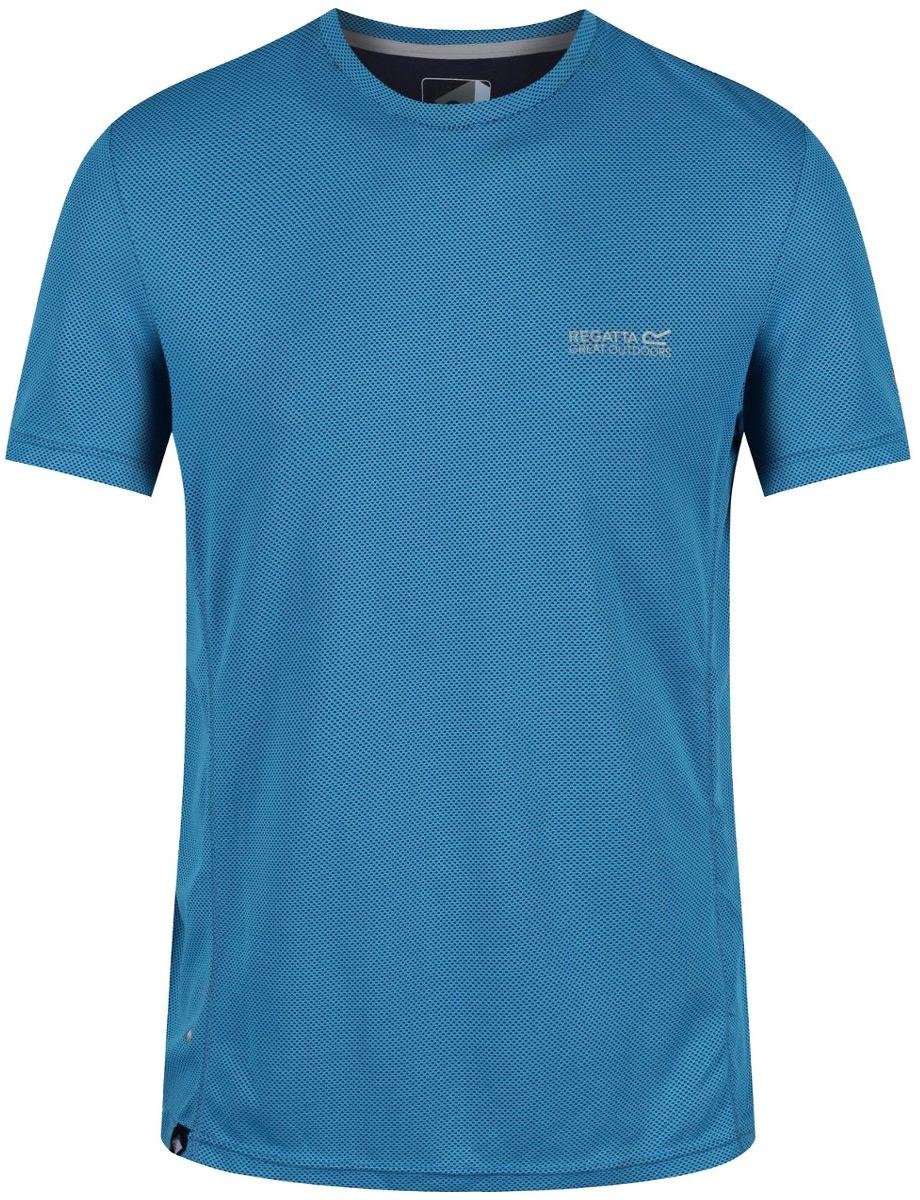 Футболка мужская Regatta Hyper-Cool, цвет: синий. RMT167-15. Размер XXL (58/60) regatta воротник