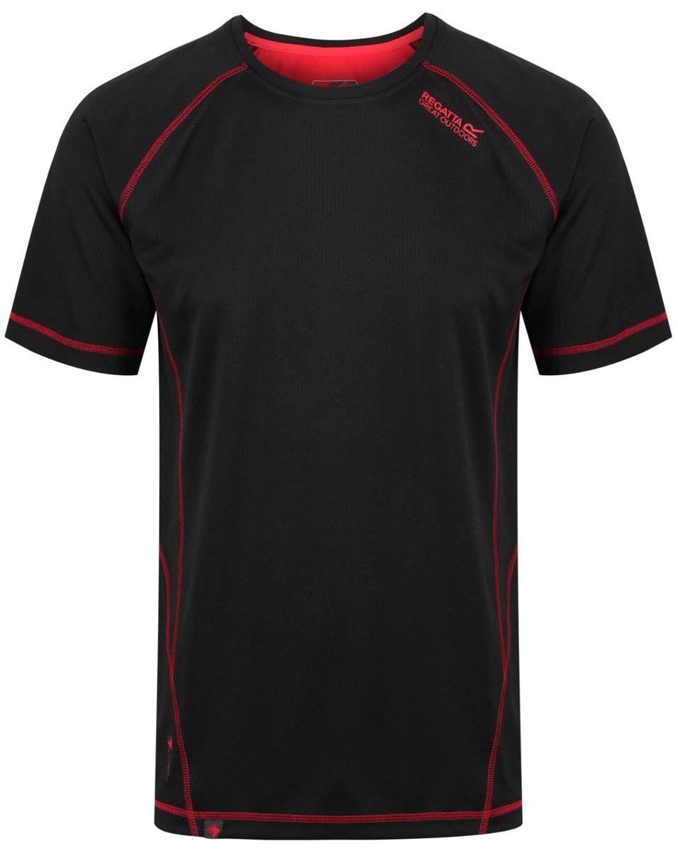 Купить Футболка мужская Regatta Virda II, цвет: черный. RMT164-9DR. Размер XXL (58/60)