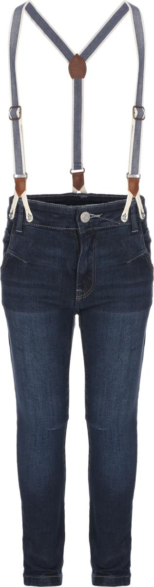 Джинсы для мальчика Sela, цвет: темно-синий джинс. PJ-735/465-8152. Размер 6, 6 летPJ-735/465-8152Джинсы для мальчика от Sela выполнены из эластичного хлопка. Модель прямого кроя в поясе застегивается на пуговицу, имеются ширинка и шлевки для ремня. Джинсы имеют спереди два втачных кармана, сзади - два накладных кармана. Изделие дополнено подтяжками.