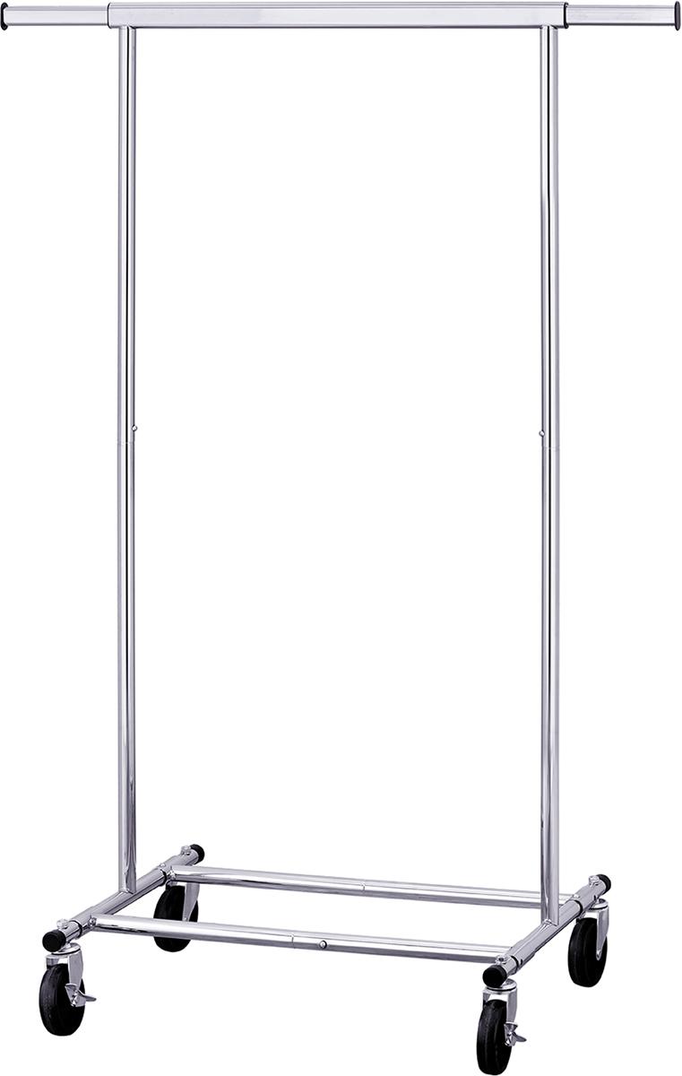 Вешалка напольная Tatkraft Darren, складная, цвет: серебристый, 121 x 49 x 150 см вешалка для одежды tatkraft karta напольная цвет белый черный высота 173 см
