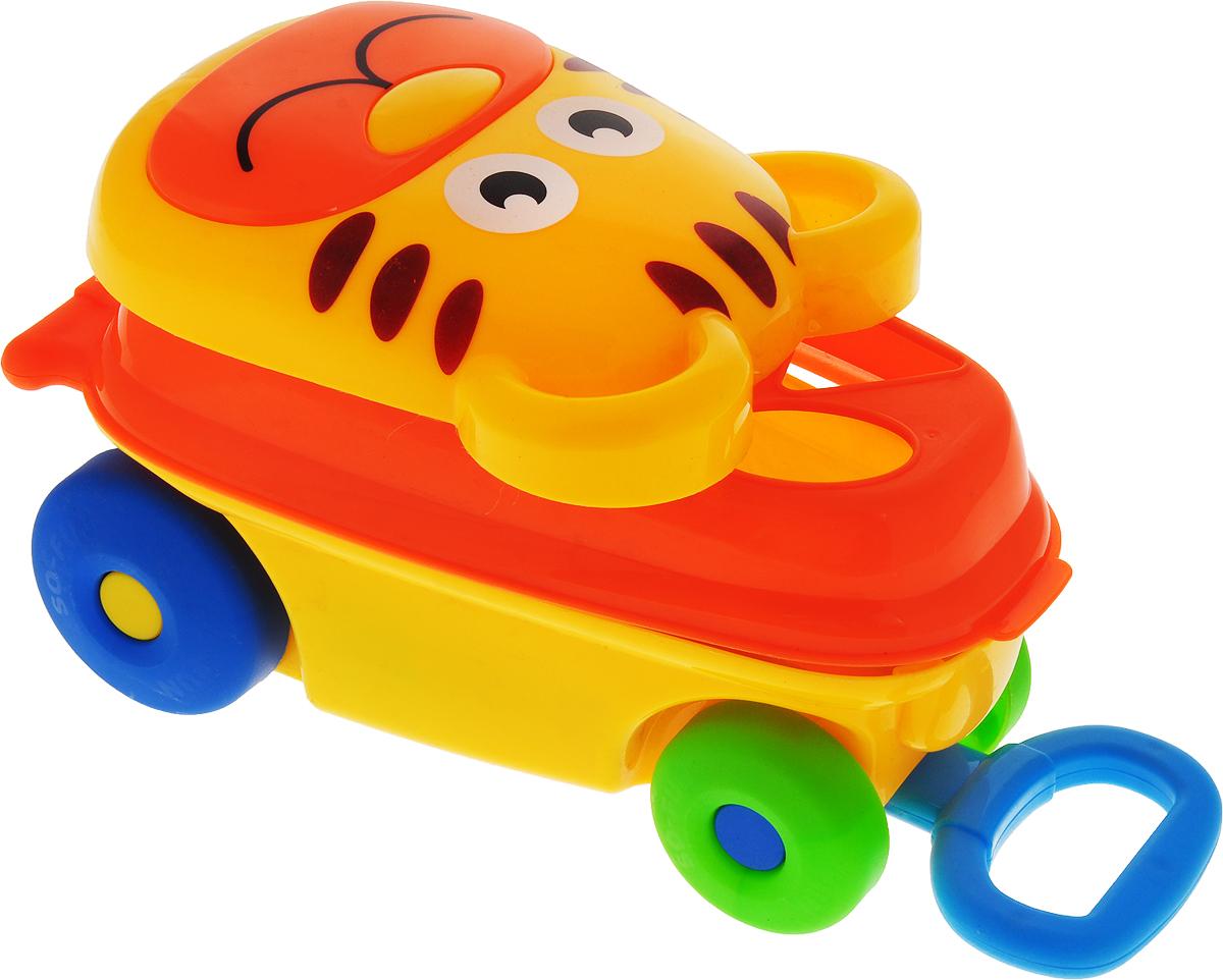 Каталка-сортер Умные игрушки Тигренок цвет желтый оранжевый каталки игрушки mertens каталка обезьянка