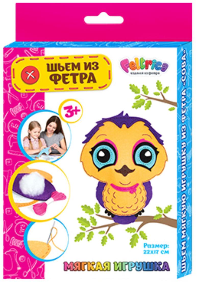 Feltrica Набор для изготовления игрушек Шьем из фетра Сова 2 feltrica набор для изготовления игрушек шьем из фетра попугай