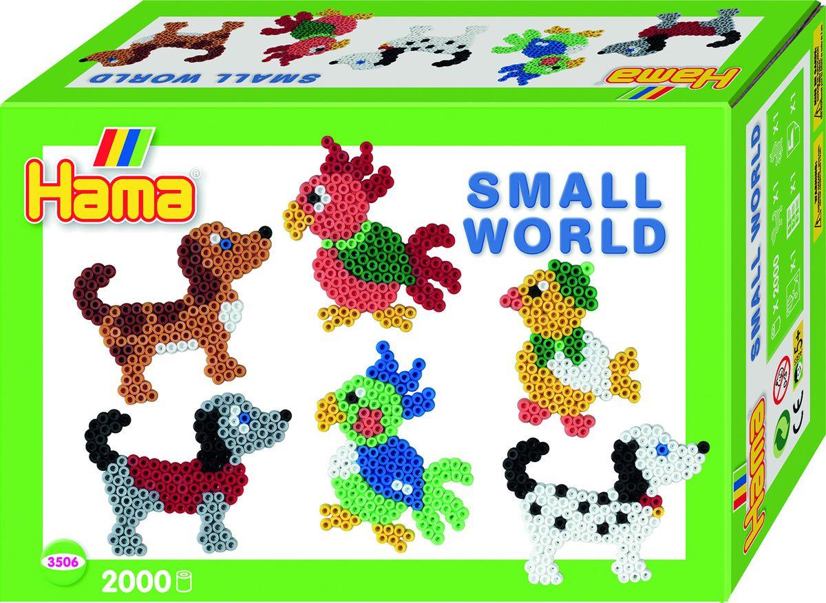 Hama Термомозаика Midi Маленький мир Собака Попугай термомозаика собака 2456256