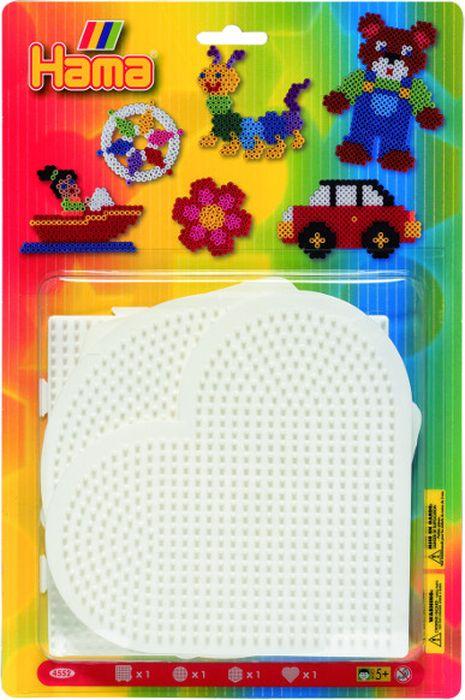 Hama Основы для термомозаики большие 4 шт основа для торта кружевное сердце 9х9 см 12 шт