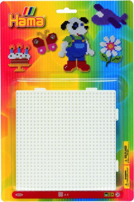 Hama Основы для термомозаики Квадрат большой 4 шт набор сомелье цвет бежевый 15 х 17 х 4 см 4 предмета 57655