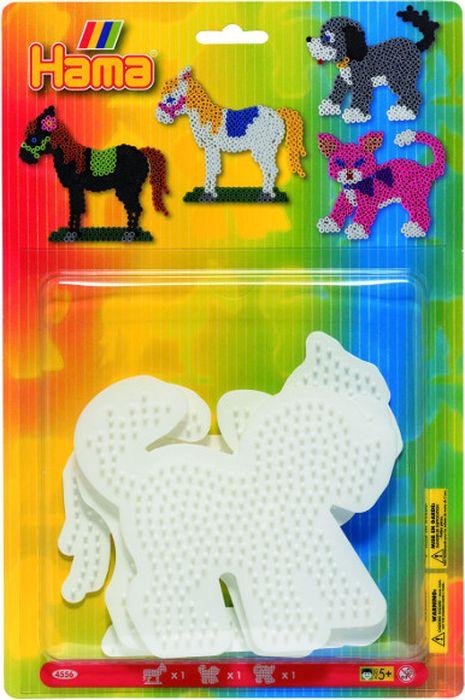 Hama Основы для термомозаики Лошадь Собака Кошка набор для вышивания подушки vervaco белая лошадь 40 х 40 см