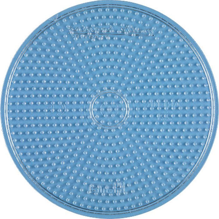 Hama Основа для термомозаики Круг голубой hama основа для термомозаики свинка