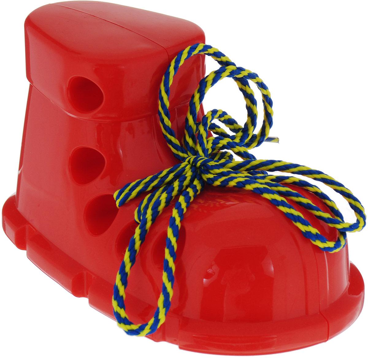 Пластмастер Игра-шнуровка для малышей Ботинок цвет красный