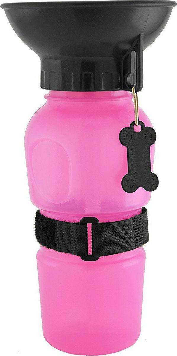 Поилка для собак  Fidget Go , цвет: розовый - Аксессуары для кормления