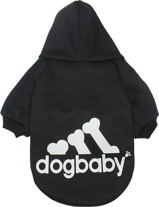 Толстовка для собак Fidget Go Dogbaby, цвет: черный, белый, унисекс. Размер XL2212345678251Толстовка для собаки подходит для прохладной и холодной погоды. Мягкая, удобная ткань. Толстовка хорошее решение для спортивных собак: принимает форму тела питомца, не сковывает движения. Сезон осень/зима. Одевается через голову.