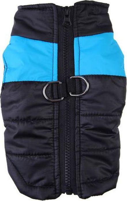 Жилет для собак  Fidget Go , цвет: черный, голубой, водонепроницаемый, унисекс. Размер M - Одежда, обувь, украшения - Одежда