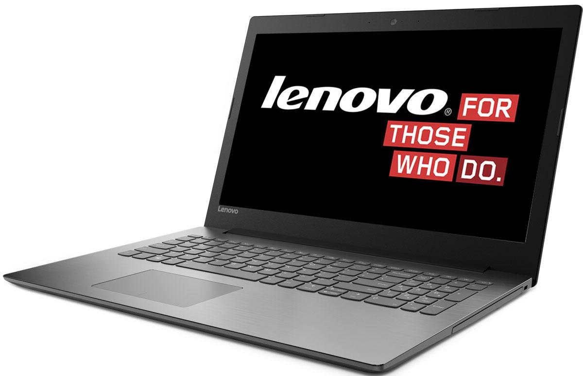 Lenovo IdeaPad 320-15IKBRN, Black (81BG00KWRU)81BG00KWRUКаждая деталь Lenovo IdeaPad 320-15IKBRN создана для того, чтобы облегчить жизнь пользователя. Ноутбук слегкостью справляется с любыми задачами благодаря мощному процессору и дискретной видеокарте.Процессор Intel Core i5-8250U и память DDR4 гарантируют высокое быстродействие и стабильнуюпроизводительность. Запускай одновременно множество программ, с легкостью переключайся междувкладками веб-браузера и наслаждайся многозадачностью без помех.Ноутбук Lenovo IdeaPad 320-15IKBRN создан для решения самых разных задач. Он защищен специальнымизносостойким покрытием, устойчивым к бытовым повреждениям, а также прорезиненными деталями снизу,которые обеспечивают максимальную вентиляцию и продлевают срок службы изделия.В Lenovo IdeaPad 320--15IKBRN установлена мощная видеокарта NVIDIA GeForce MX150. Дискретная видеокартаиспользует собственные вычислительные ресурсы, что повышает качество изображения, уменьшаетколичество разрывов кадров, увеличивает производительность в играх без ущерба для быстродействия иотклика системы. Наслаждайся качественным изображением в компьютерной игре или при создании иредактировании различного контента.Ноутбук Lenovo IdeaPad 320-15IKBRN имеет дисплей стандарта Full HD с антибликовым покрытием. Ты подостоинству оценишь четкость и реалистичность изображения при просмотре фильмов и веб-серфинге.Lenovo IdeaPad 320-15IKBRN оснащен динамиками, оптимизированными для технологии Dolby Audio, чтообеспечивает кристально четкий звук с минимальными искажениями на любой громкости. Запусти потоковуюпередачу любимой музыки или общайся в видеочате с близкими и родными - аудиосистема передасттончайшие нюансы звука.Точные характеристики зависят от модификации.Ноутбук сертифицирован EAC и имеет русифицированную клавиатуру и Руководство пользователя