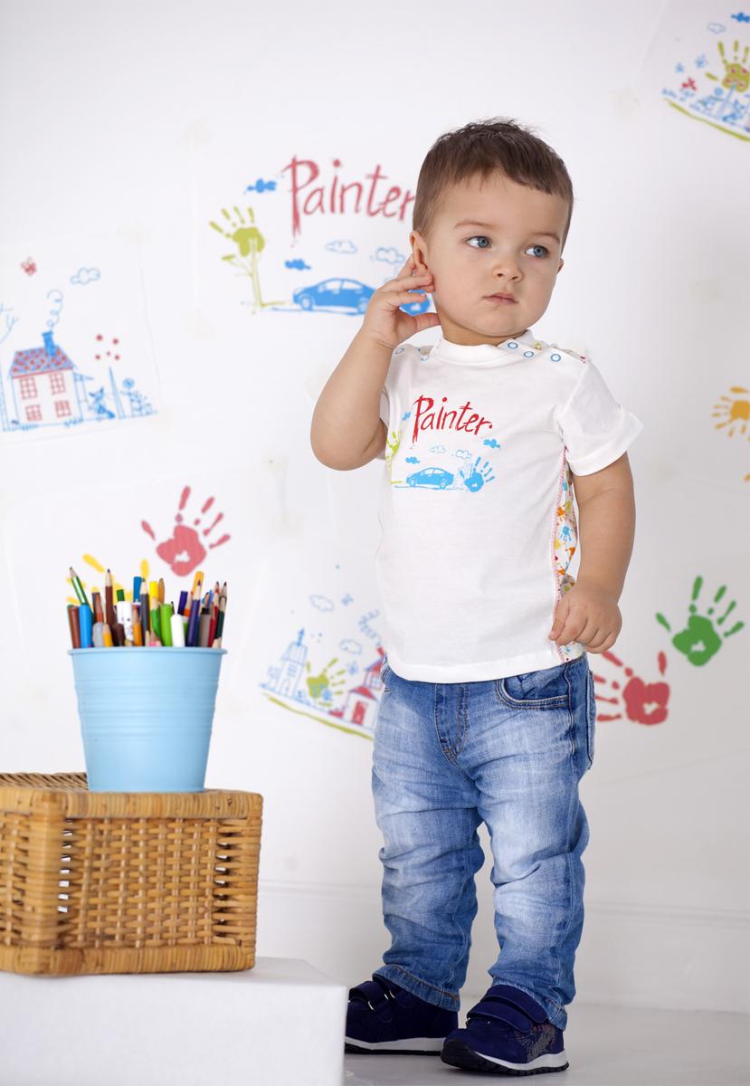 Футболка для мальчика Мамуляндия, цвет: разноцветный. 18-107. Размер 9818-107Футболка для мальчика Мамуляндия станет отличным дополнением к гардеробу вашего малыша. Изготовленная из натурального хлопка, она необычайно мягкая и легкая. Модель застегивается на кнопки на плече.