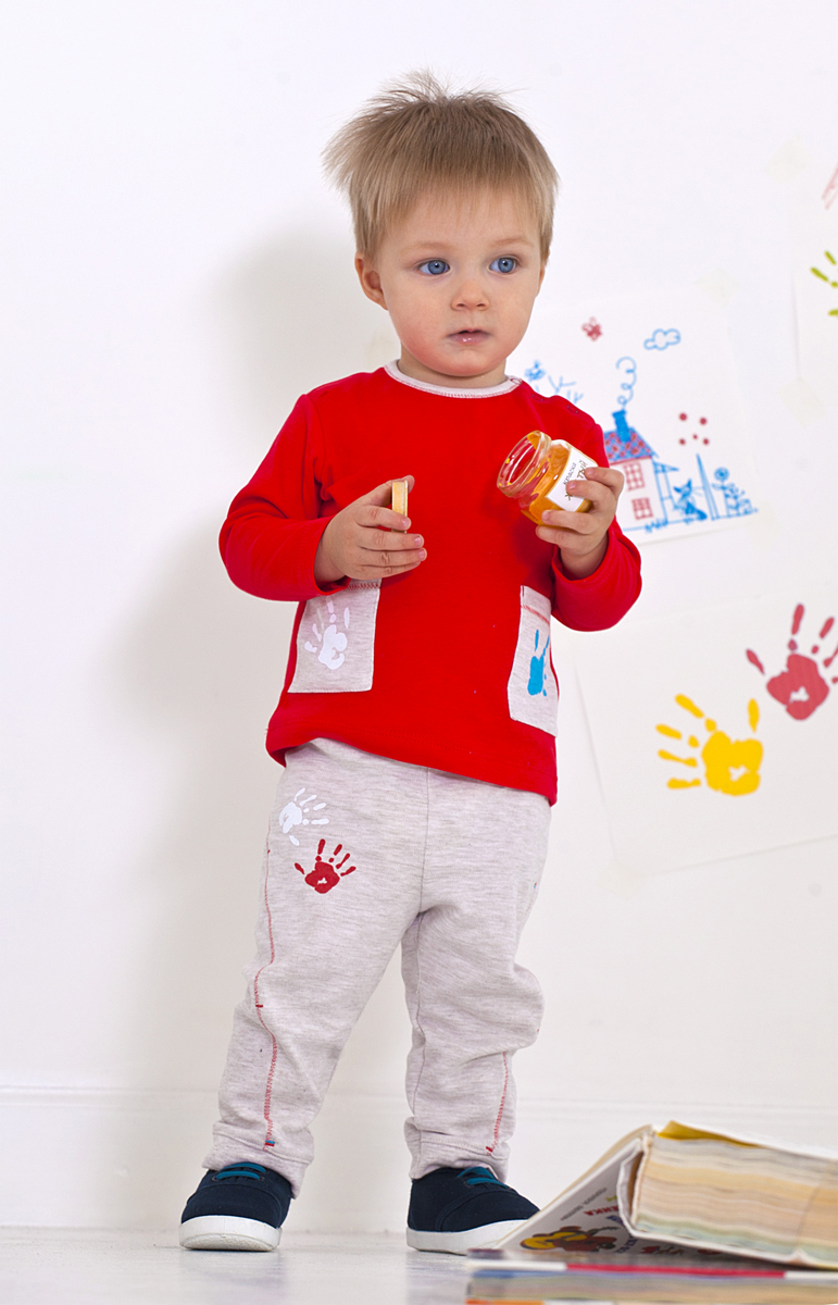 Футболка с длинным рукавом для мальчика Мамуляндия, цвет: красный. 18-103. Размер 74 футболка с длинным рукавом для мальчика umbro bradfield jersey l s цвет белый красный 60027u размер yl 152