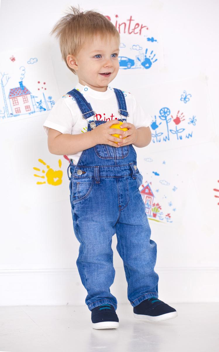 Полукомбинезон для мальчика Мамуляндия, цвет: деним. 15022. Размер 98 комплекты детской одежды мамуляндия комплект для мальчика полукомбинезон и футболка клякса