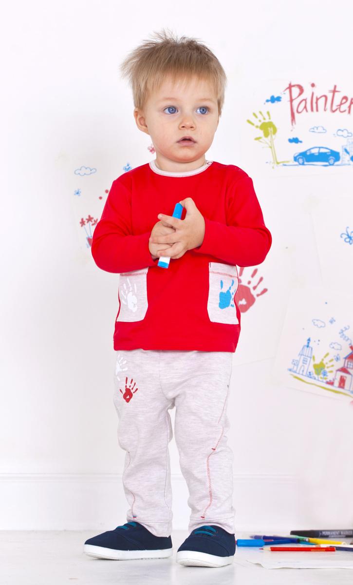 Брюки для мальчика Мамуляндия, цвет: бежевый меланж. 18-1010. Размер 98