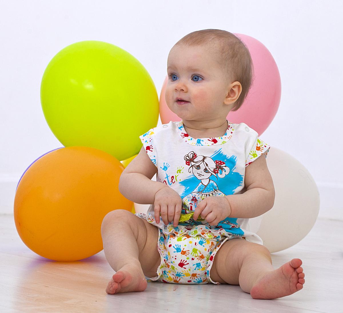 Футболка для девочки Мамуляндия, цвет: молочный. 18-206. Размер 8018-206Футболка для девочки Мамуляндия станет отличным дополнением к гардеробу вашего малыша. Изготовленная из натурального хлопка, она необычайно мягкая и легкая. Модель застегивается на кнопки на плече.
