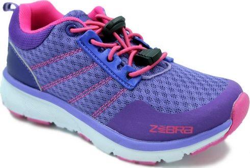 Кроссовки для девочки Зебра, цвет: фиолетовый. 12306-26. Размер 3512306-26Комфорт и максимальное удовольствие от использования – это модные, стильные, яркие, оригинального дизайна кроссовки ТМ Зебра.Верх и подкладка из натуральных, комбинированных, инновационных и высокопрочных сетчатых материалов, которые обеспечивают дышащий эффект и гарантируют оптимальный микроклимат внутри.Анатомическая профилированная двухслойная вкладная стелька, эластичные шнурки со стопперами, прочный задник и подносок, высокотехнологичная подошва дают правильное, удобное и безопасное расположение стопы, предотвращающее развитие плоскостопия и каких-либо деформаций.Светоотражатели - блестящие швы и вставки - дополнительная возможность обеспечения безопасности ребенка на улице.