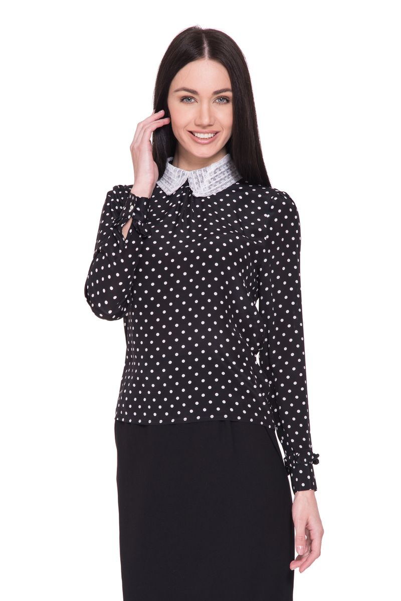 Блузка женская Lusio, цвет: черный. SK18-160047. Размер  (42/44)