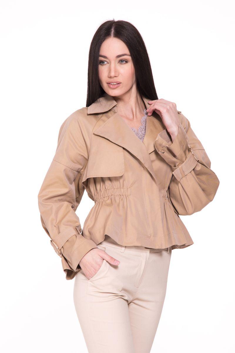 Куртка женская Lusio, цвет: бежевый. SK18-050005. Размер S (42/44) куртка кожаная lusio lusio lu018ewahka5