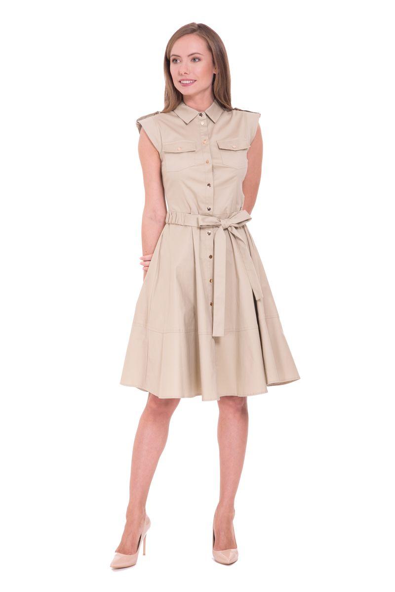 Платье Lusio, цвет: бежевый. SS18-020097. Размер XS (40/42)