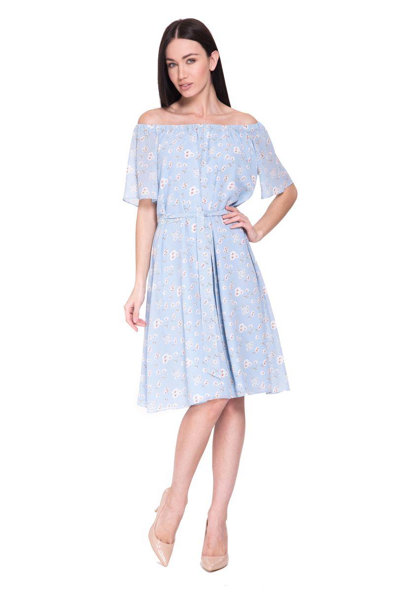 Платье Lusio, цвет: голубой. SS18-020302. Размер XS (40/42)