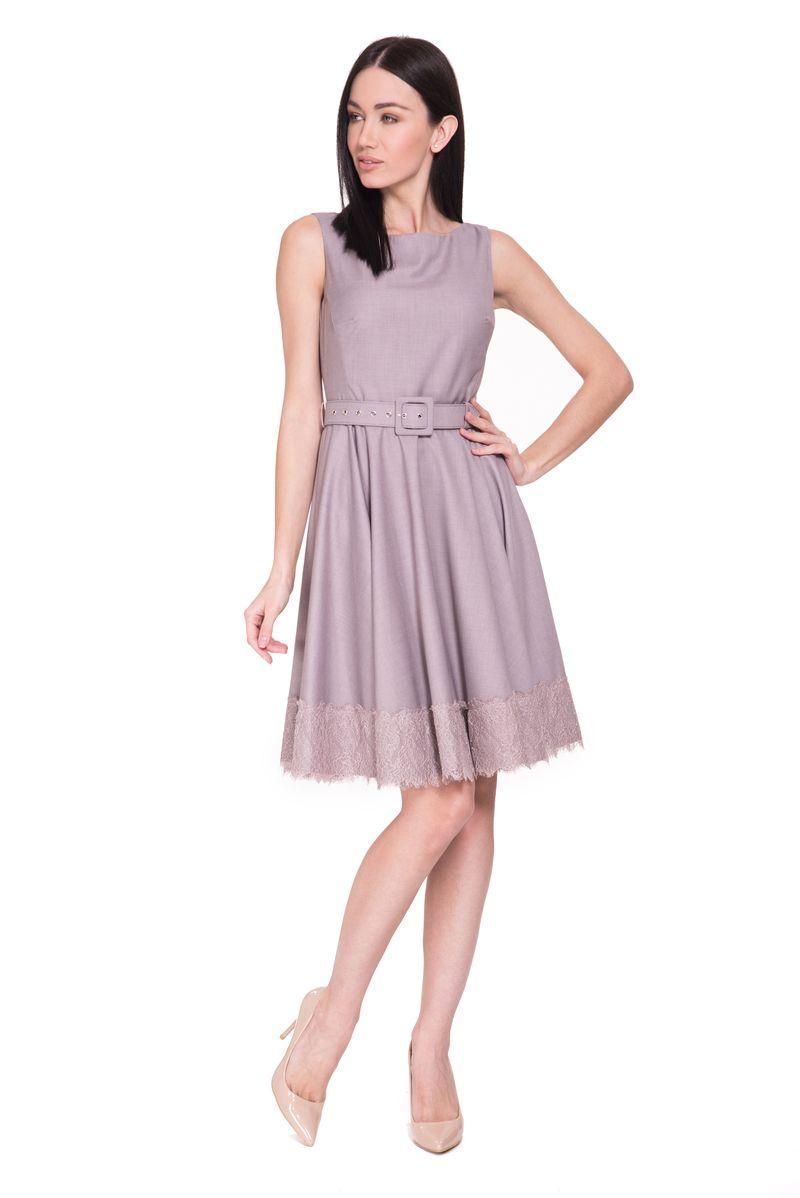 Платье Lusio, цвет: сиреневый. SS18-020091. Размер XS (40/42) платье lusio цвет сиреневый ss18 020223 размер xs 40 42
