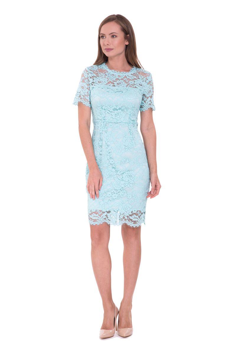 Платье Lusio, цвет: мята. SS18-020322. Размер XS (40/42)