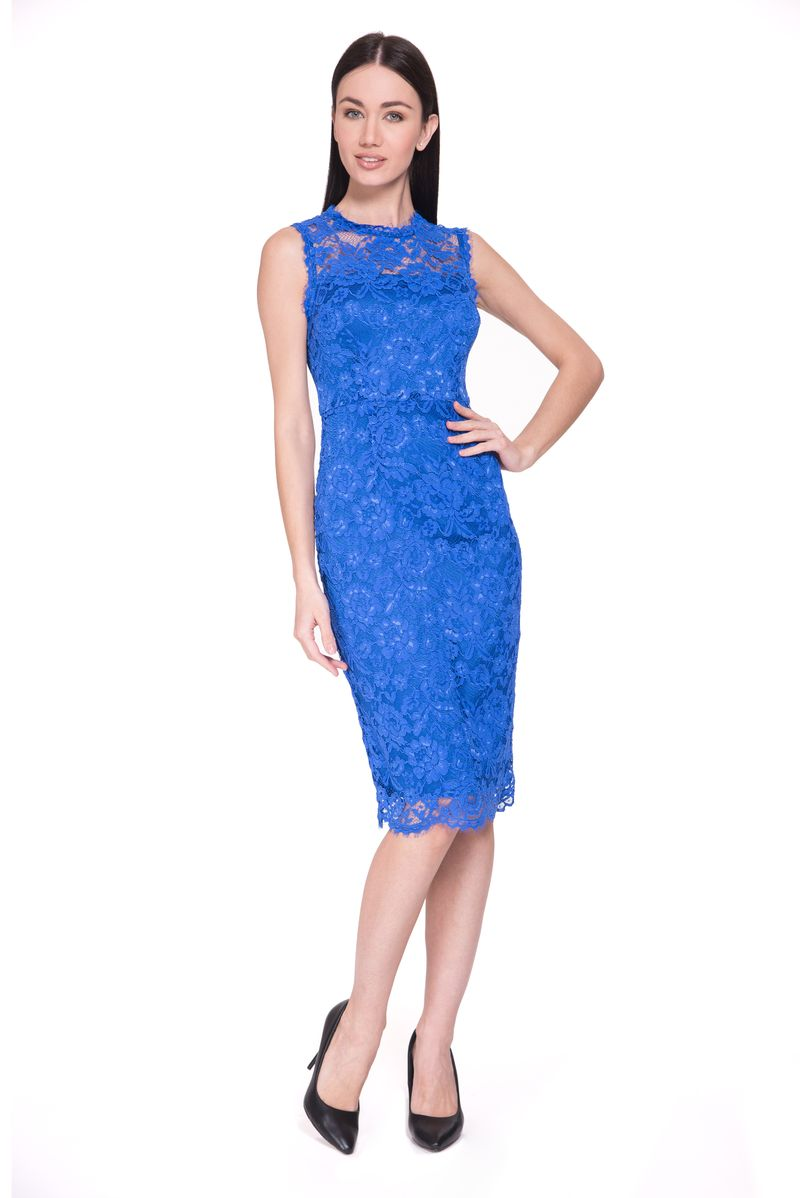Платье Lusio, цвет: синий. SS18-020323. Размер XS (40/42) платье lusio lusio lu018ewubt88