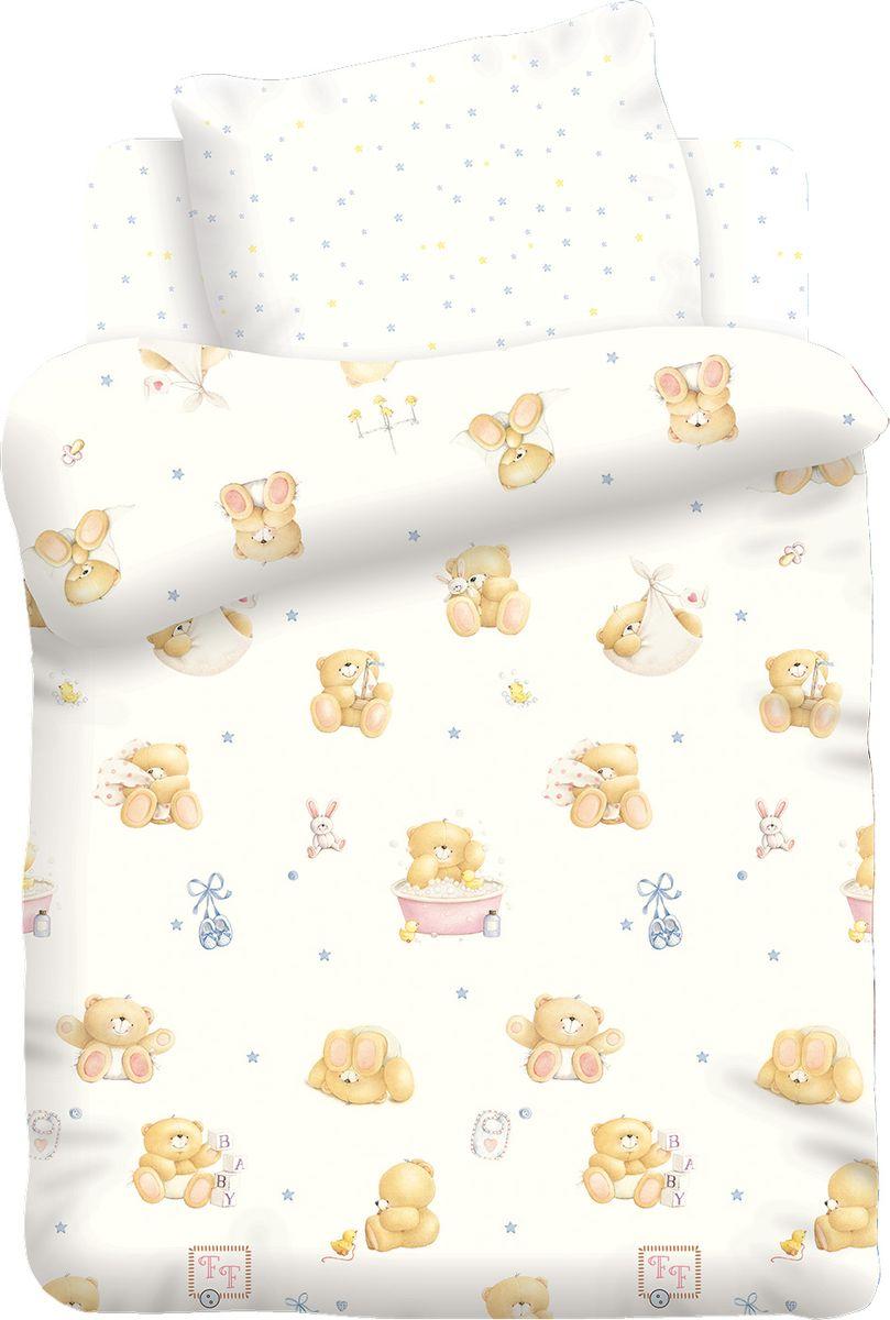 Комплект белья Forever Friends Маленькие мишки, 1,5 спальное, наволочки 40x60. 8825/8826 мобили canpol мишки и утки 2 517