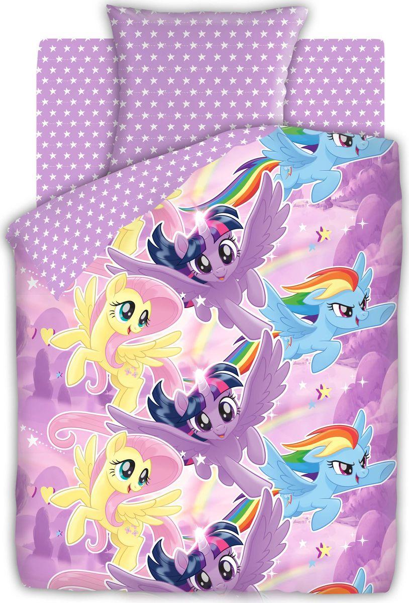 цена на Комплект белья детский My Little Pony Небесные пони, 1,5 спальное, наволочки 70 x 70. 8920-1/8921-1