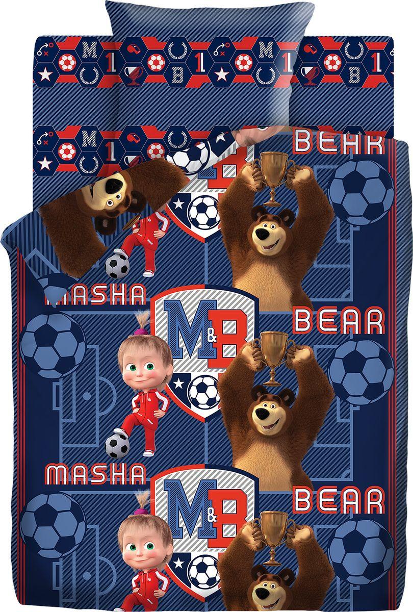Комплект белья детский Маша и Медведь  Команда , 1,5 спальное, наволочки 70x70. 9007-1/9008-1 -  Детский текстиль