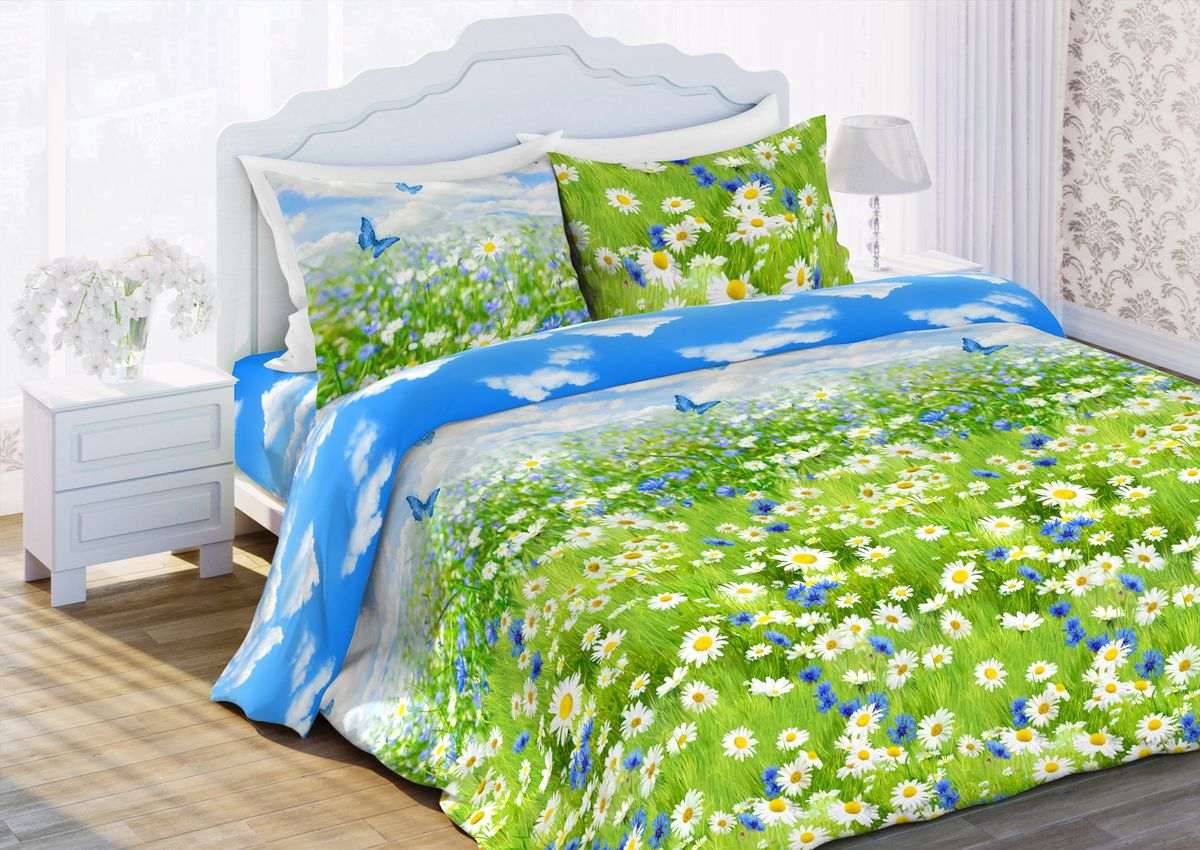 """Комплект постельного белья """"Любимый дом"""" является экологически безопасным для всей семьи, так как выполнен из бязи (100% хлопка). Комплект состоит из пододеяльника, простыни и двух наволочек. Постельное белье оформлено оригинальным рисунком и имеет изысканный внешний вид. Бязь - это ткань полотняного переплетения, изготовленная из экологически чистого и натурального хлопка. Она прочная, мягкая, обладает низкой сминаемостью, легко стирается и хорошо гладится. Бязь прекрасно пропускает воздух и за ней легко ухаживать. Приобретая комплект постельного белья """"Любимый дом"""", вы можете быть уверены в том, что покупка доставит вам и вашим близким удовольствие и подарит максимальный комфорт."""