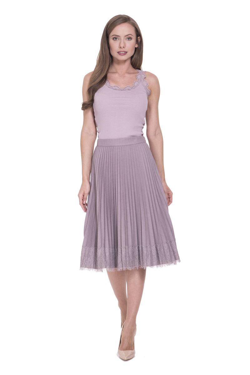 Юбка Lusio, цвет: сиреневый. SS18-030010. Размер XS (40/42) платье lusio цвет сиреневый ss18 020223 размер xs 40 42