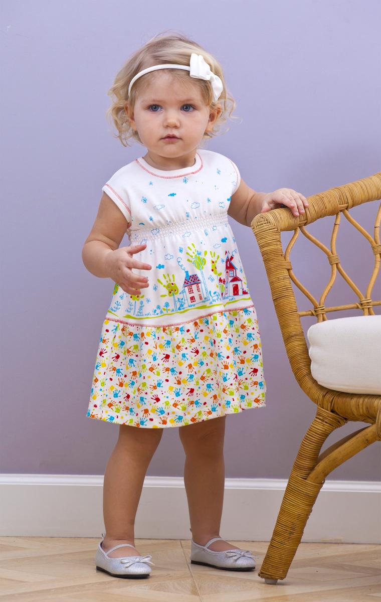 Платье для девочки Мамуляндия, цвет: разноцветный. 18-2013. Размер 86