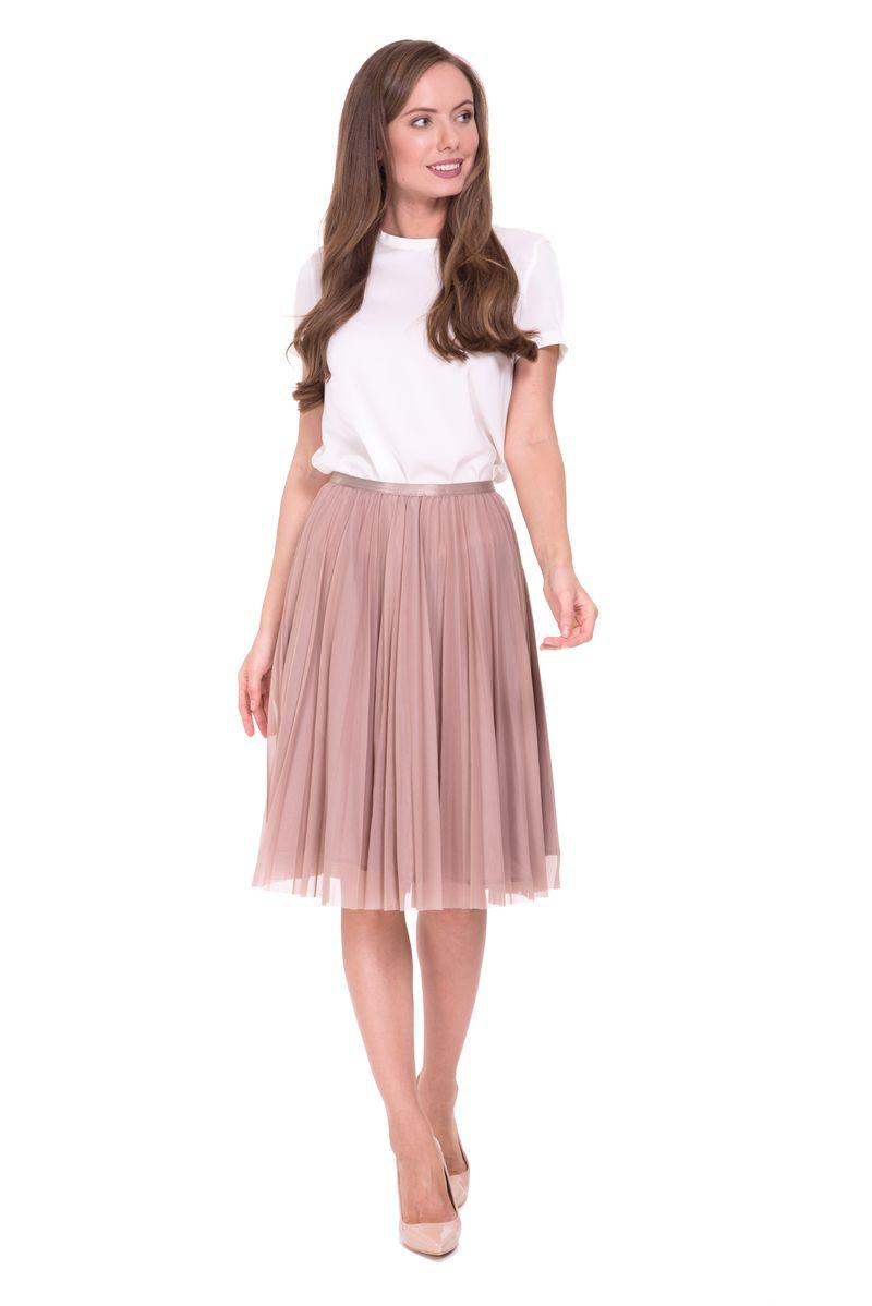 Юбка Lusio, цвет: светло-коричневый. SS18-030040. Размер XS (40/42) платье lusio цвет сиреневый ss18 020223 размер xs 40 42
