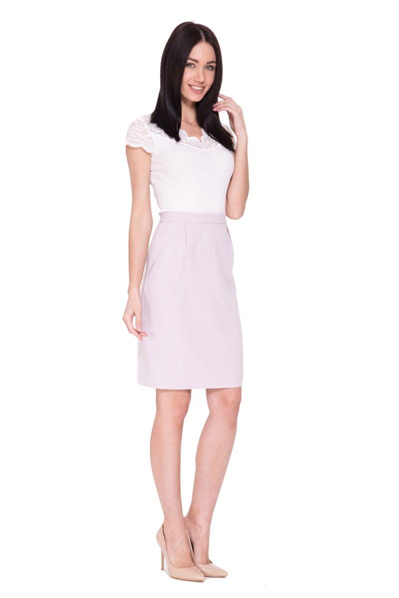 Юбка Lusio, цвет: сиреневый. SS18-030030. Размер XS (40/42) платье lusio цвет сиреневый ss18 020223 размер xs 40 42