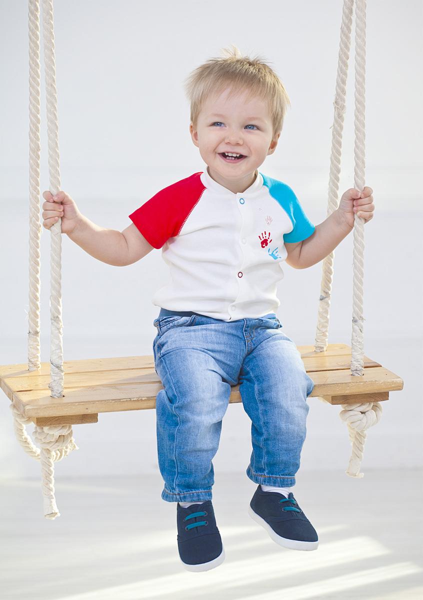 Боди для мальчика Мамуляндия, цвет: молочный. 18-101. Размер 74