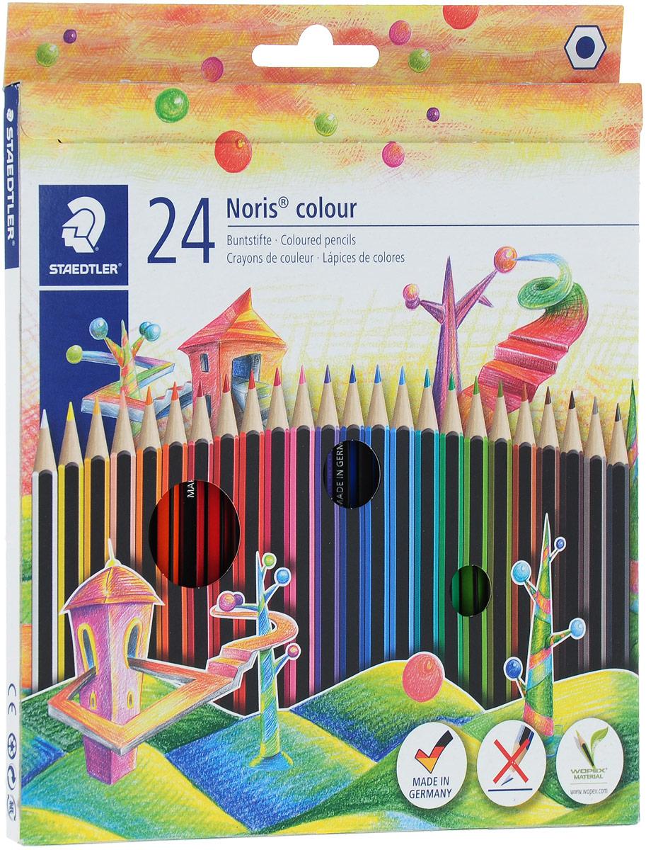 Staedtler Набор цветных карандашей Noris Colour 24 цвета