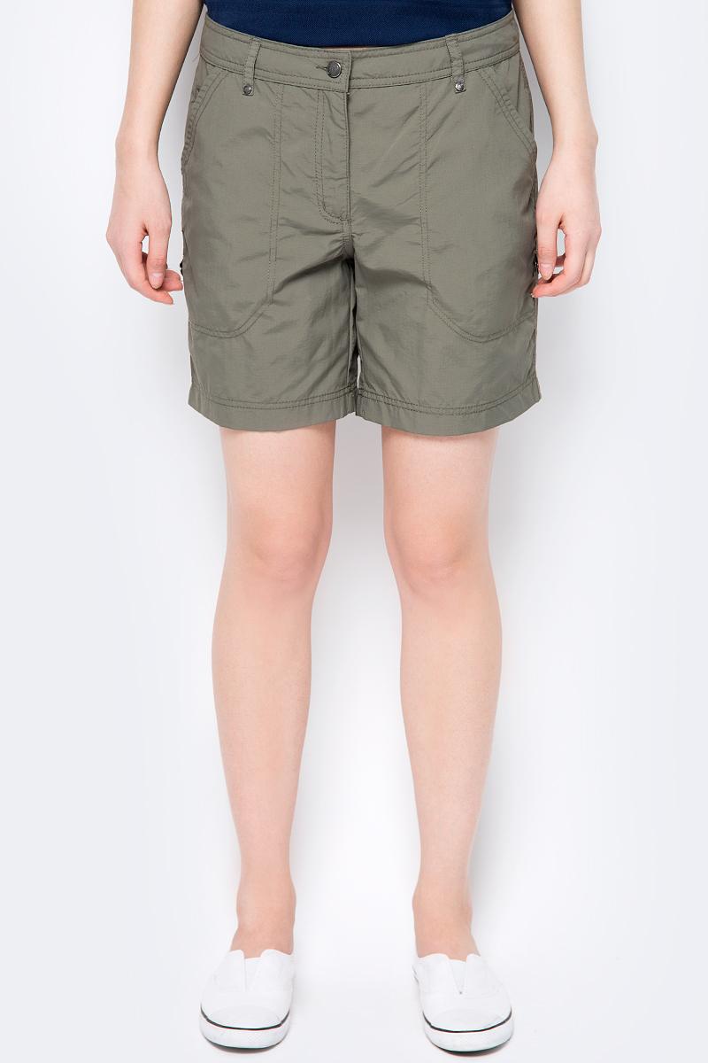 Шорты женские Icepeak, цвет: темно-зеленый. 954061574IV_580. Размер 42 (48) шорты для плавания женские icepeak manon цвет розовый синий 754528622iv размер 36 42