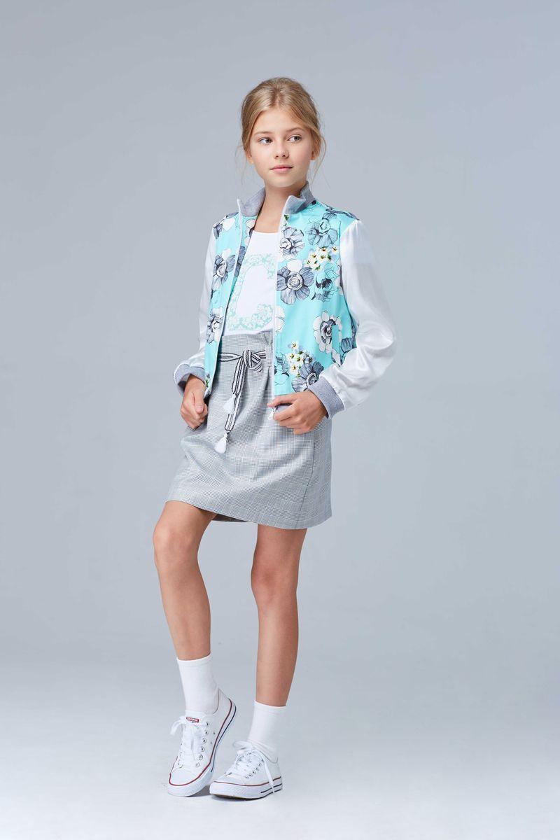 Жакет для девочки Смена, цвет: бирюзовый. 17с49. Размер 158/164 жакет 158 см