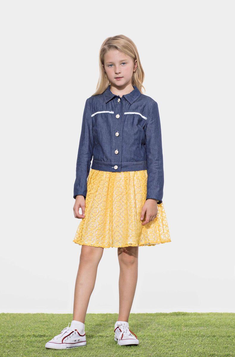 Жакет для девочки Смена, цвет: синий. 17с46. Размер 92/98 жакет для девочки смена цвет молочный 16с229 размер 92 98