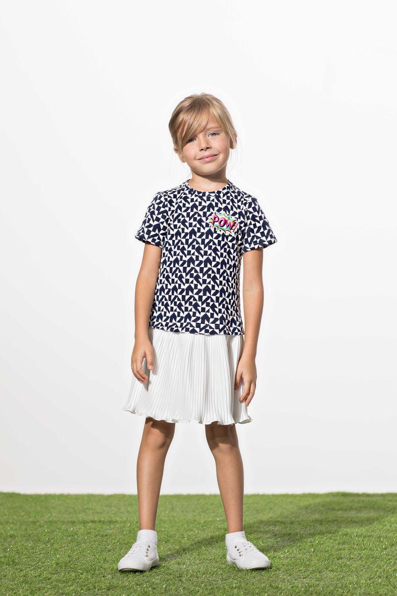 Платье для девочки Смена, цвет: синий. 18с030. Размер 152/158 платье футболка женское deha из трикотажного хлопка