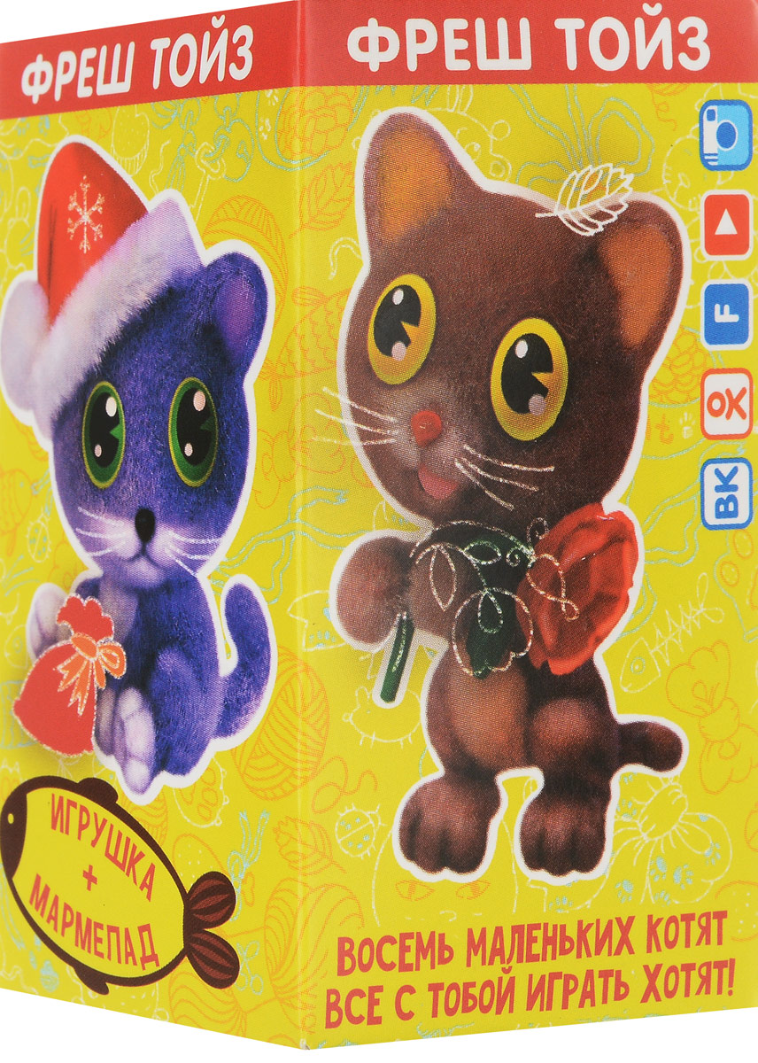 Fresh Toys Давай играть. Котята мармелад жевательный с игрушкой, 10 г (в ассортименте) sweet box пушистики щенята коллекция 2 жевательный мармелад с игрушкой 10 г