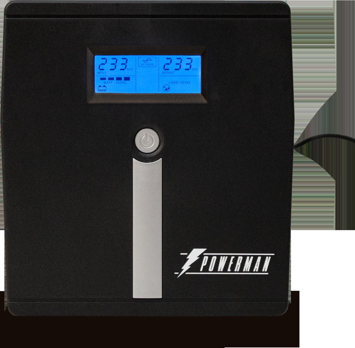 Источник бесперебойного питания Powerman UPS Smart Sine 1000, 1000 ВА источник бесперебойного питания ippon back power pro lcd 600