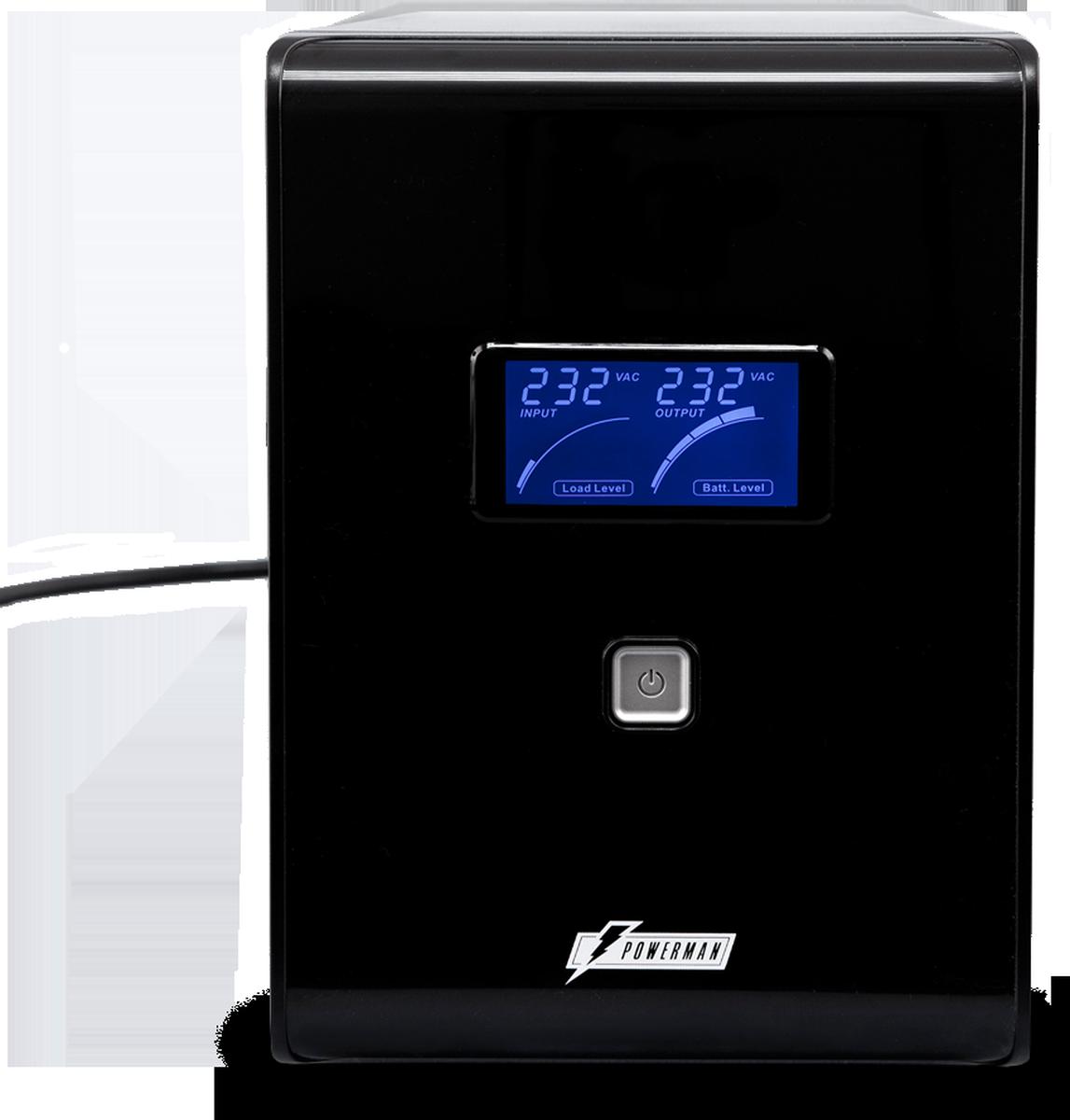 Источник бесперебойного питания Powerman UPS Smart Sine 1500, 1500 ВА источник бесперебойного питания ippon back power pro lcd 600