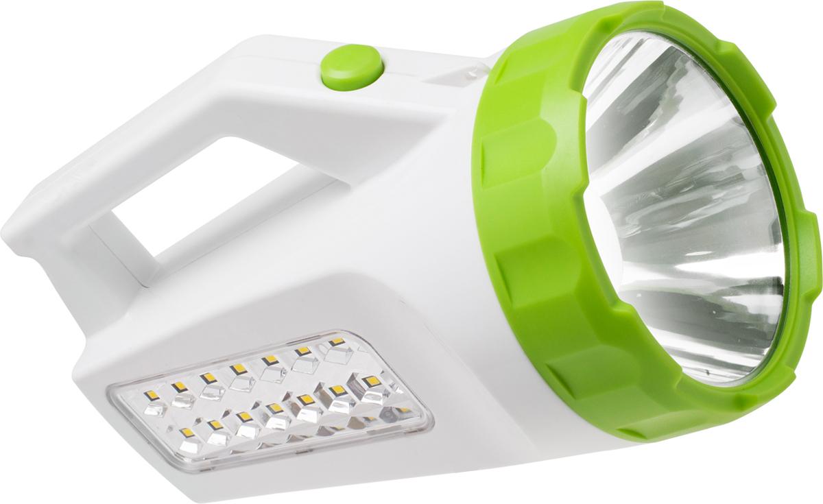 """Фонарь ручной Космос """"KOCAccu678Ex"""", аккумуляторный, цвет: белый, зеленый"""