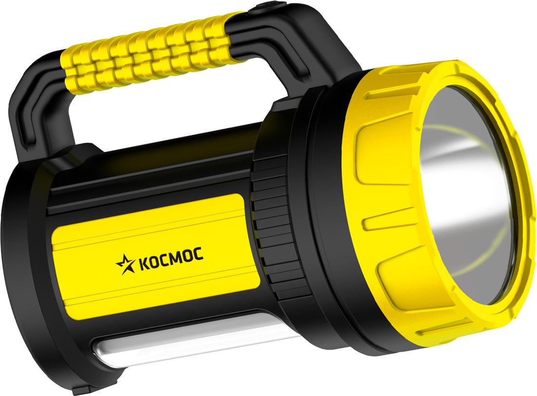 """Фонарь ручной Космос """"KOCAc2005W_Ex"""", аккумуляторный, цвет: черный, желтый"""