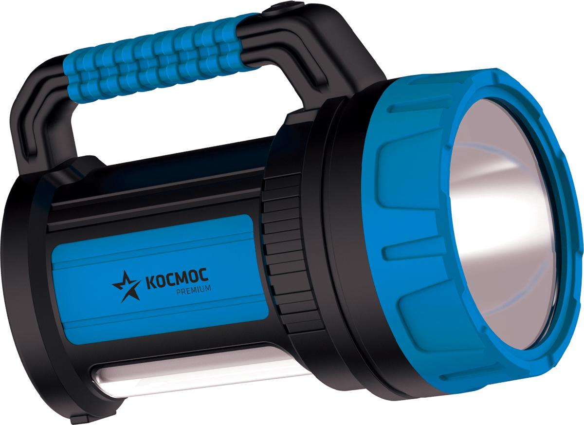 """Фонарь ручной Космос """"KOSACCU9107WUSB"""", аккумуляторный, цвет: черный, бирюзовый"""
